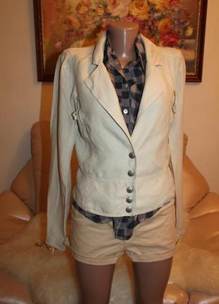 100% лен идеальный базовый пиджак размер s m