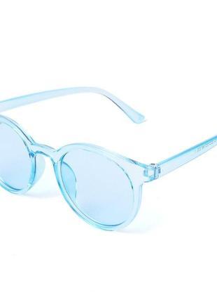 Голубые полупрозрачные трендовые очки новинка для имиджа