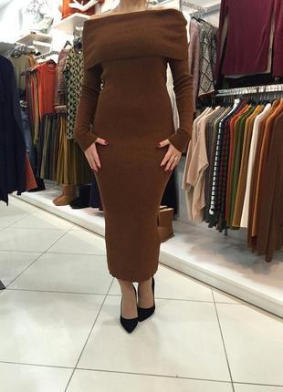 Платье миди очень тёплое фирмы dilvin