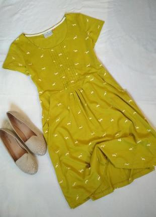 Нежное летнее платье в весёлый принт- собачки.