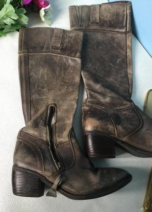 Сапоги кожаные kickers гранж