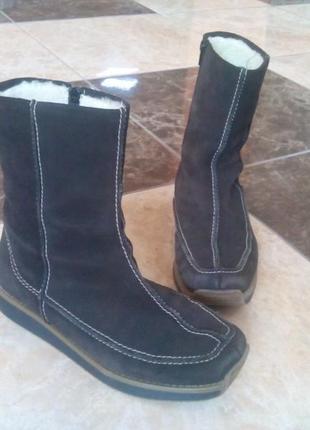 Замшеві чобітки rieker