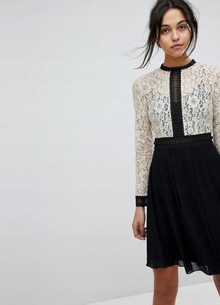 Little mistress чарівна контрастна сукня ажурний верх