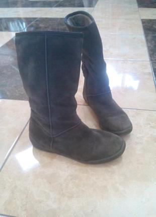 Замшеві чоботи tamaris