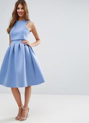 Платье миди неопрен asos