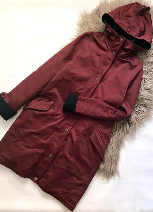 Комбинированная куртка парка пальто с капюшоном