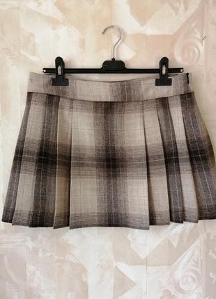 Шикарная брендовая  шерстяная юбка р.38-40