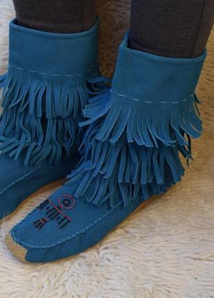 Стильные замшевые ботинки полусапожки inscene р.42 27,5 унты