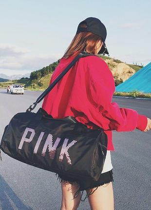 Спортивная сумка pink victoria's secret (black)