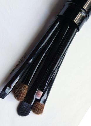 Набор кистей для макияжа 5 шт в металлическом тубусе ворс натуральный