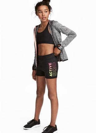 Короткие спортивные шорты h&m