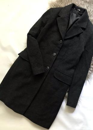 Теплое шерстяное классическое пальто
