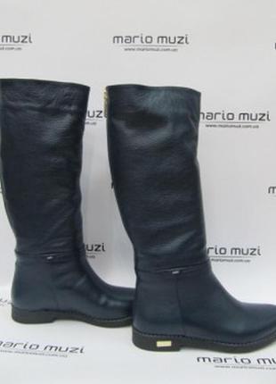 Зимние сапоги ,кожаные на меху натуральные  mario muzi