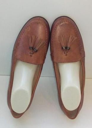 Туфли лоферы мокасины балетки кожаные footglove, р. 39,5-40.