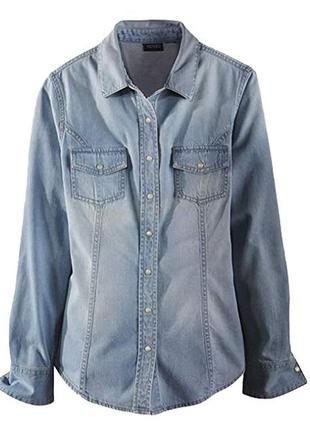 Джинсовая рубашка esmara s