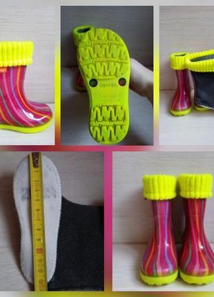Резиновые сапожки для девочки