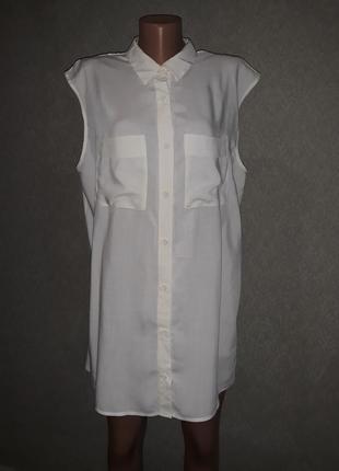 Блузка-рубашка с открытой спинкой xl