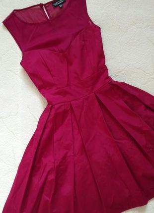 Платье вечернее бордовое марсала с пышной юбкой