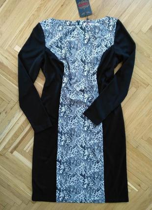 Класична сукня чорно-біла / zemal
