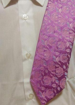 Шелковый галстук в цветочный принт