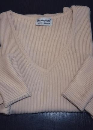 Гольф гольфик свитер в рубчик /s-m