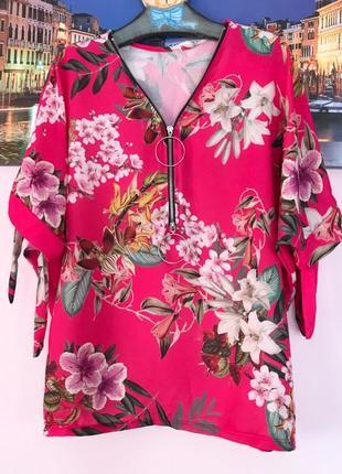 Шикарная цветочная блуза