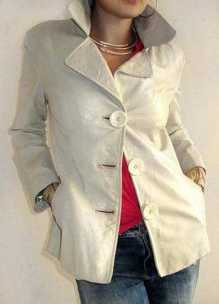Palm beach!! натуральный пиджак-куртка из прессованной кожи