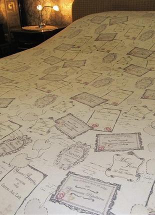 Пододеяльник двуспальный с винтажной тематикой 215 х 220 см