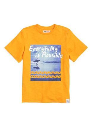 Хлопковая футболка майка для мальчика принт c надписью