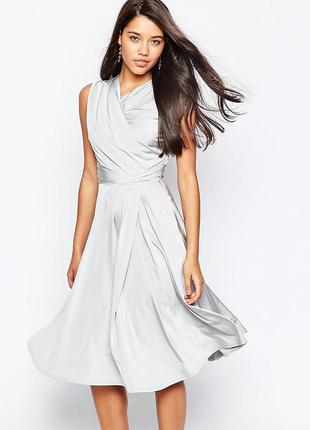 Ліквідація товару до 29 грудня 2018 !!!  сукня міді сталевого кольору asos