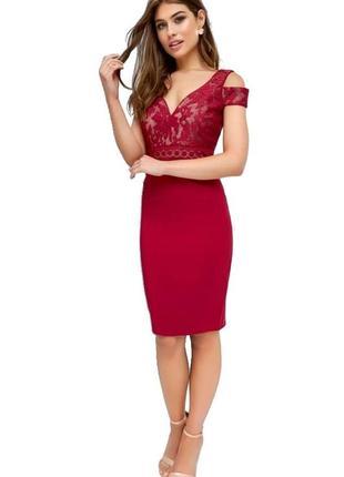 Обворожительное платье винного цвета3