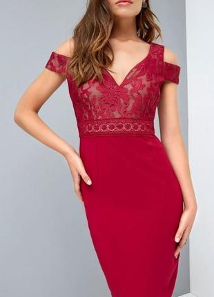 Обворожительное платье винного цвета2