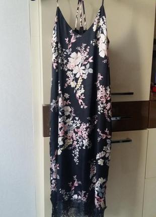 Шовкове плаття в білизняному стилі