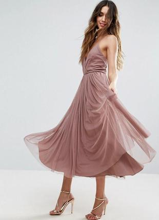 Платье миди из тюля asos