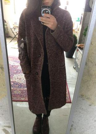Шерстяное зимнее пальто