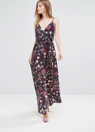 Розпродаж !!!  платье макси с принтом и запахом oh my love