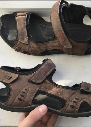 Ecco кожаные мужские сандали босоножки 44р оригинал