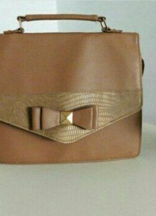 Сумка-портфель, сумка с длинной и короткой ручками