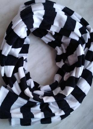 Шарф,  полосатый шарф,  трикотажный шарф