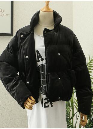 Шикарна велюрова куртка