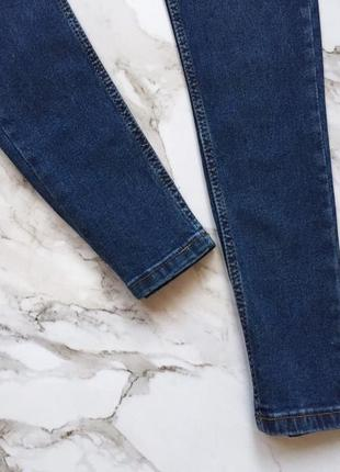 Синие джинсы скинни skinny с высокой талией посадкой3