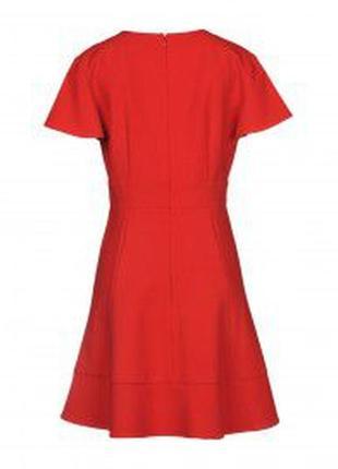Красное платье из плотной ткани zara