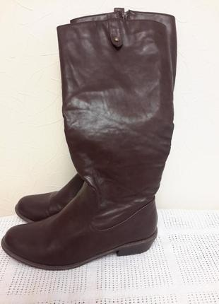 Демисезонные сапоги низкий каблук