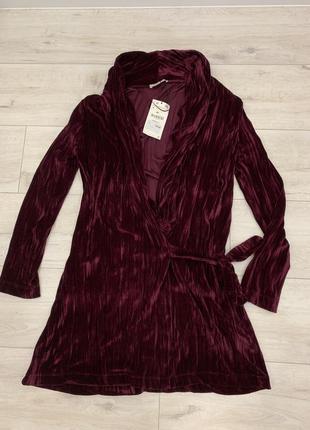Zara trf платье из бархата