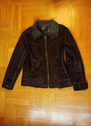 Теплая легкая дубленка-куртка