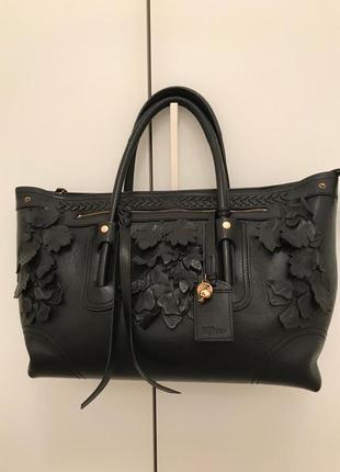Кожаная сумка alexander mcqueen. оригинал.