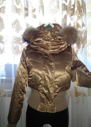 Курточка на синтепоне с натуральным мехом