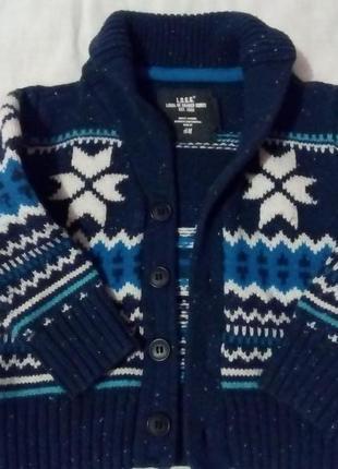 Зимний свитер кофта h&m