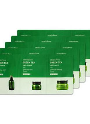 Набор пробников innisfree green tea night-care kit