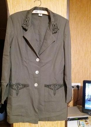Жакет пиджак лёгкий удлинённый